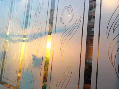 Sichtschutzfolie mit Dekorationselementen