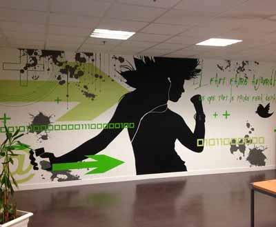 Wanddekoration mit Folie / Wandtattoo