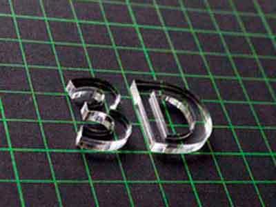 3D Buchstaben, 3D Schriften