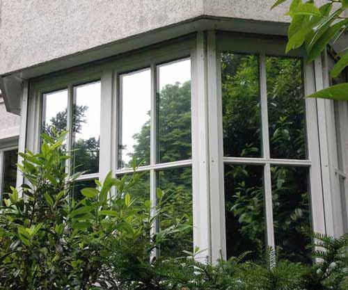 Sonnenschutz / Hitzeschutz mit gleichzeitigem Sichtschutz durch den Einsatz von spiegelnder Sonnenschutzfolie